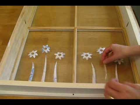 How to turn an old window into illuminated wall art.