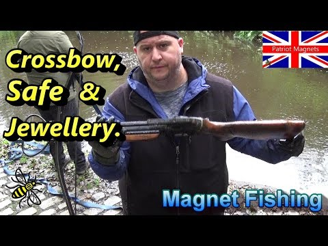 Crossbow, Safe & Jewellery Found Magnet Fishing The Rochdale Canal
