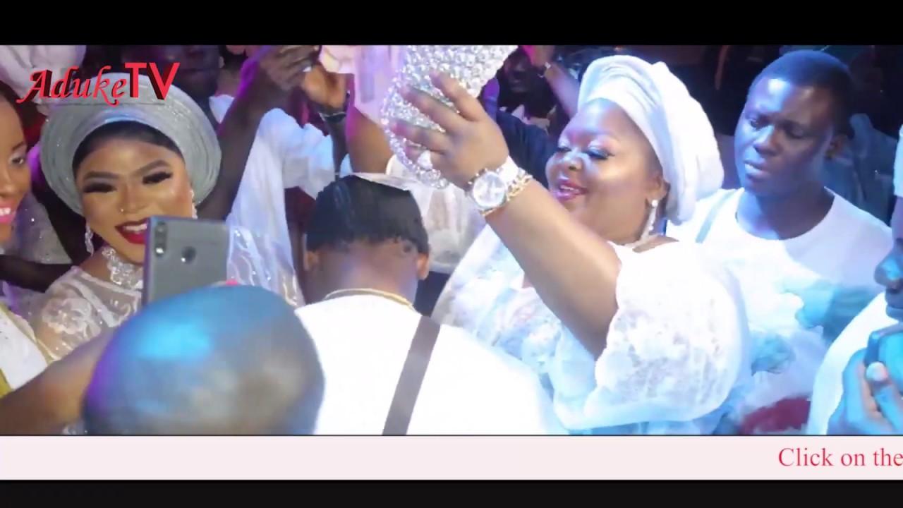 Download Bobrisky, Eniola Badmus Sprays Money on Mega 99 at Sotayo Mum's Burial