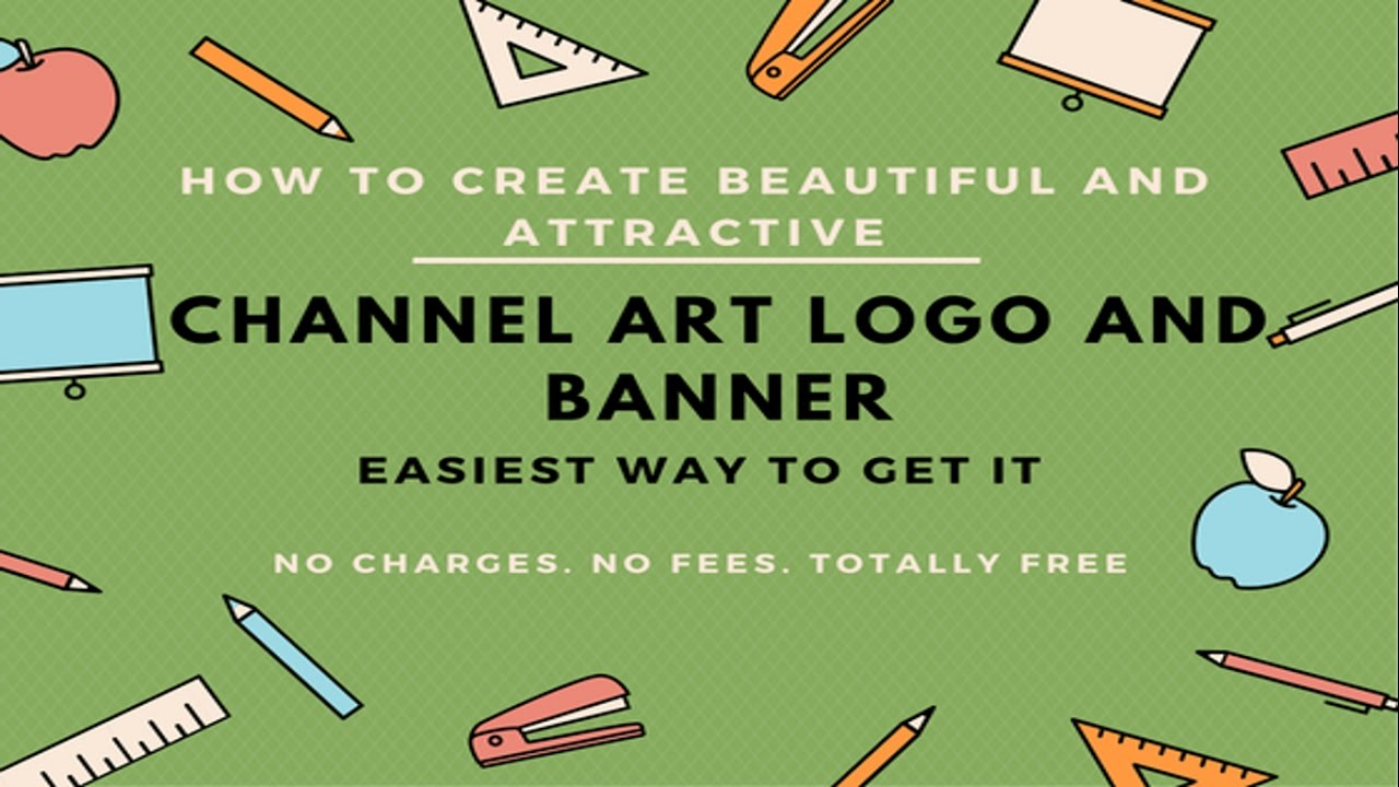 How To Create Youtube Channel Art, template, Banner and Background ...