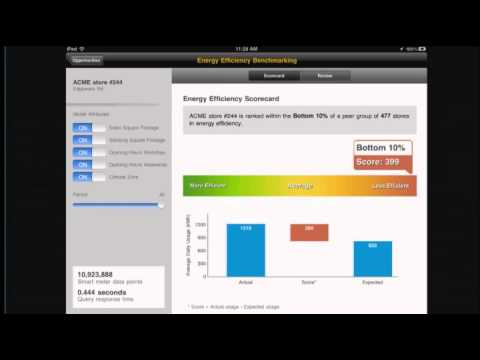 Wayne Johncock from Centrica presents a live demo of smart meter analytics on HANA.