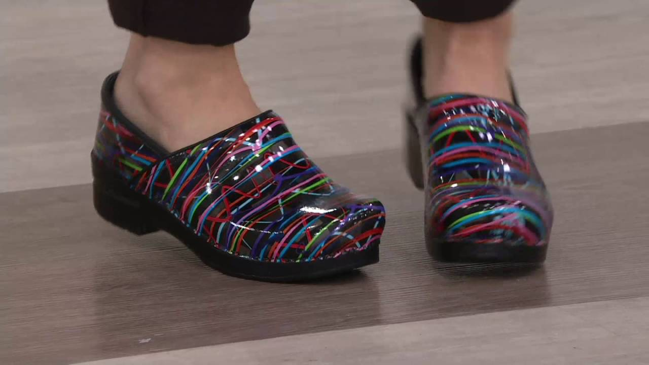 Dansko Professional Leather Slip On Clogs On Qvc Youtube