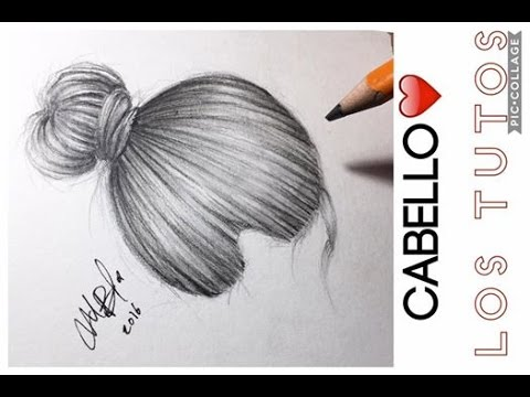 COMO DIBUJAR CABELLO MÁS REALISTA - Lápices de grafito - TIPS - YouTube