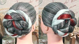 Шикарный пучок с канекалоном  | Авторские причёски | Лена Роговая | Hairstyles by REM | Copyright ©