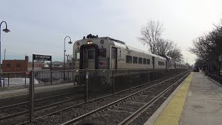 Bergen Line Trains at Rutherford 2/6/19