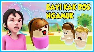 BABY KAK ROS NGAMUK!! OPAH SURPRISED-ROBLOX UPIN IPIN