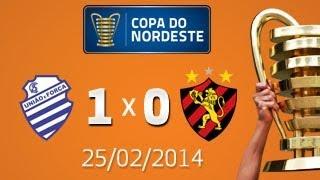 CSA vence mas não consegue a classificação! (CSA 1x0 SPORT - 25/02/2014)