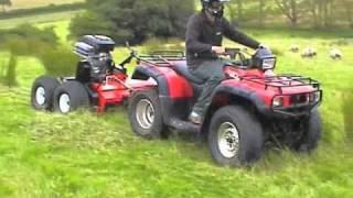 quad x atv rush power shredder