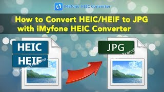 How to Convert HEIC/HEIF to JPG with iMyfone HEIC Converter