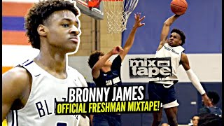 Bronny James OFFICIAL Freshman Mixtape! The YOUNG KING!
