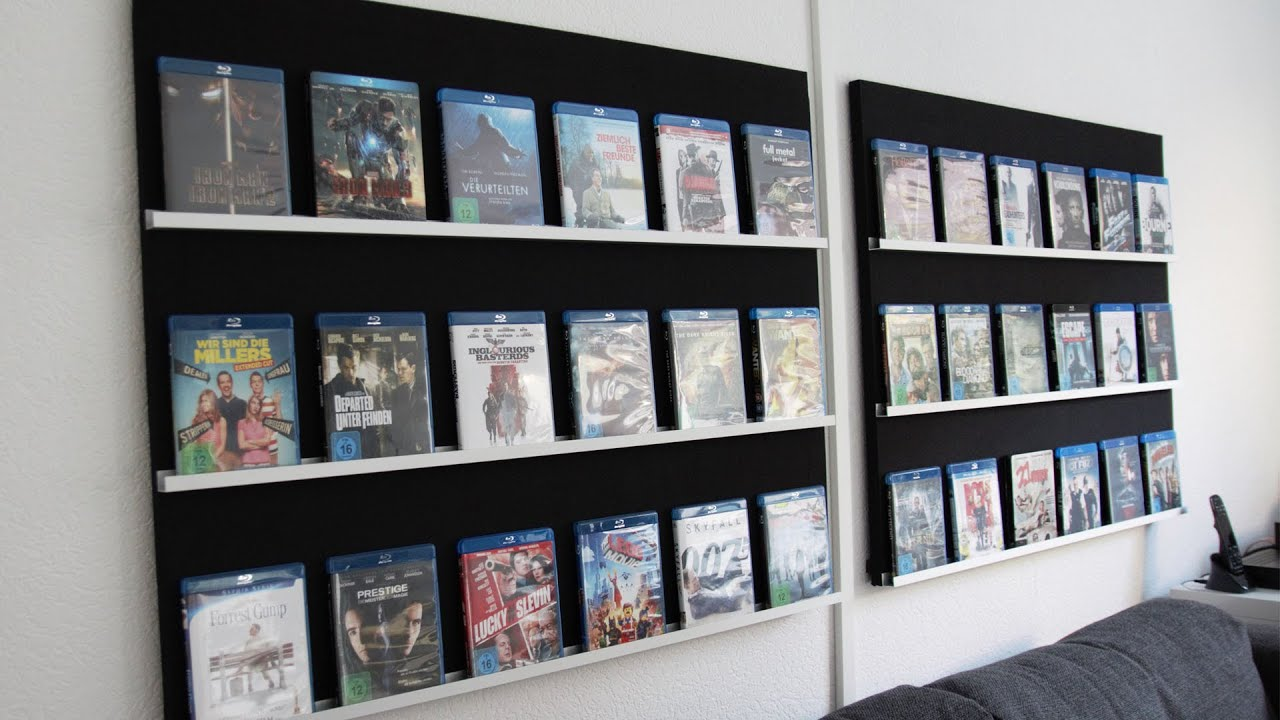 Unsichtbares bücherregal selber bauen  Bluray-Regal selbst bauen - Do it yourself! - YouTube