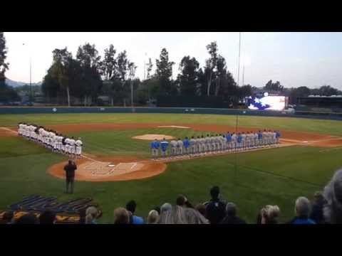 National Anthem at Jackie Robinson Stadium - NCAA Baseball LA Regional Final