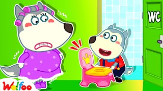 Wolfoo, Mommy Needs to Go Potty! - Kids Stories About Potty Training With Wolfoo | Wolfoo Family