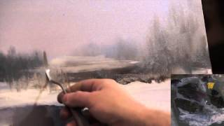 Полный видеоурок И.Сахарова 'ЗИМНИЙ ПЕЙЗАЖ'.