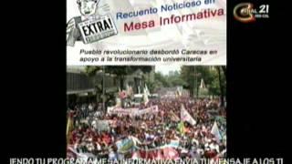 MESA INFORMATIVA juventud revolucionaria del municipio santa rita