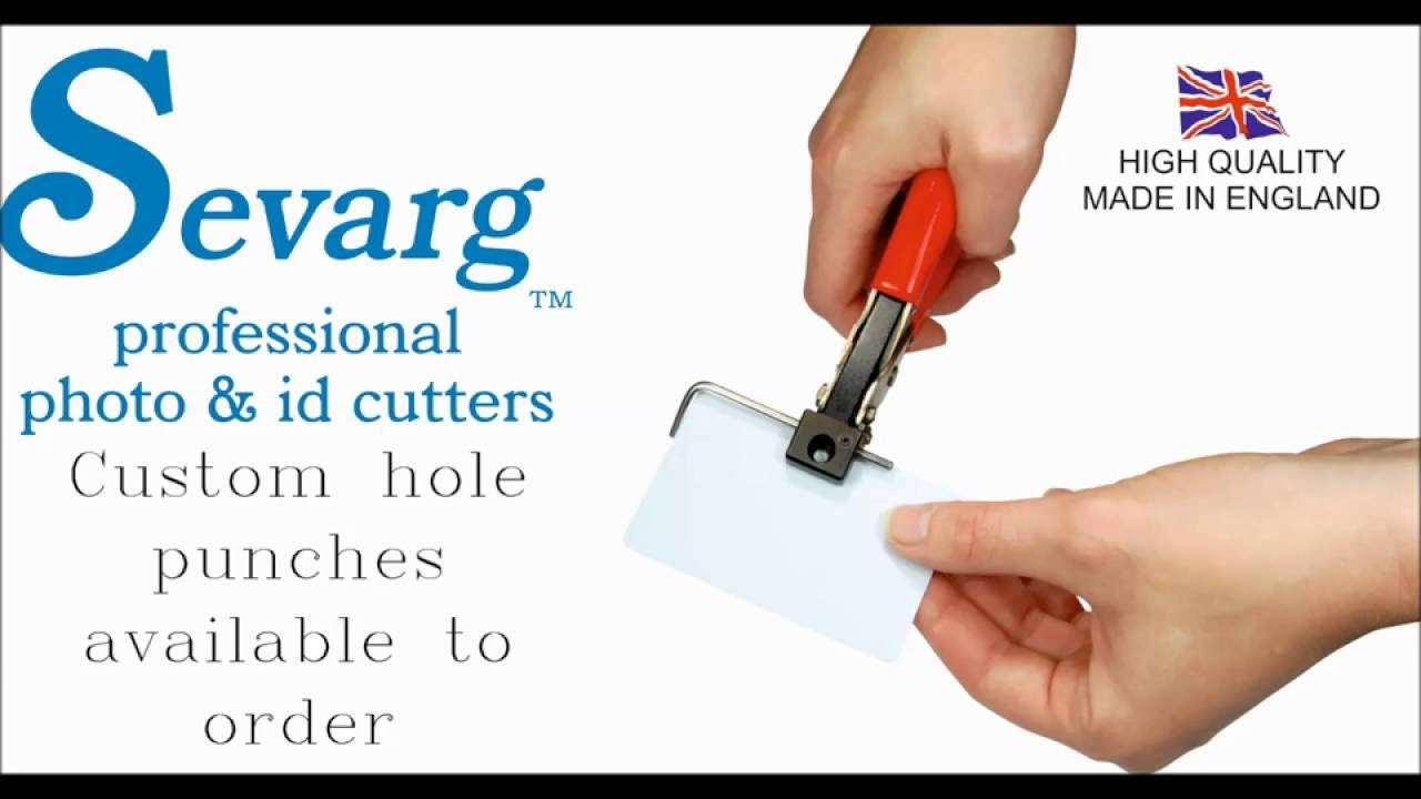 Sevarg™ SSP hand cutter- Hand slot/Hole punch/ID-cards - YouTube