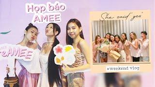 Vlog #32: Cầu hôn..? Dự họp báo của Amee, Đi ăn bò né Sang Chảnh | TIEN LE