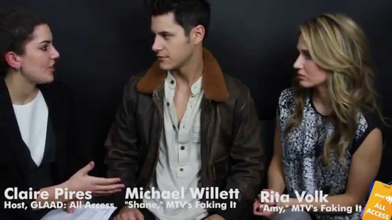 Download All Access: Rita Volk and Michael Willett from MTV's Faking It sit down with GLAAD
