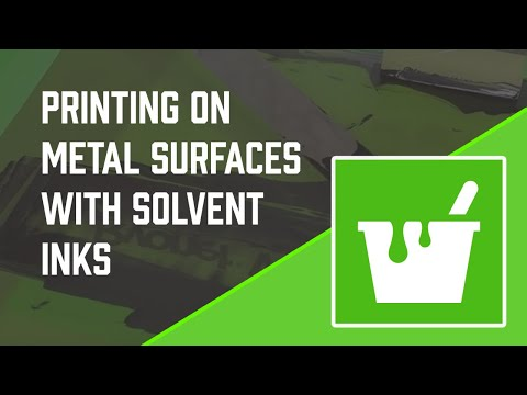 How To Screen Print On Metal with Solvent Screen Printing Ink