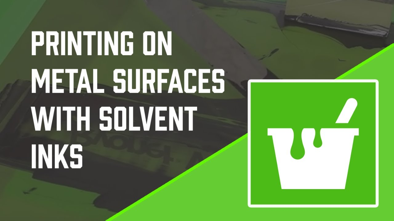 How To Screen Print On Metal With Solvent Screen Printing