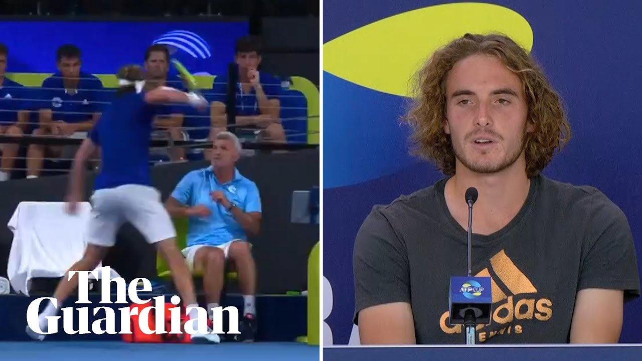 Stefanos Tsitsipas Hurts Father With Racket Swipe In Atp Cup Meltdown Youtube