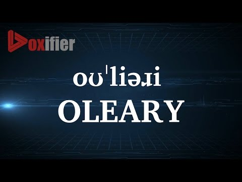 How to Pronunce Oleary in English - Voxifier.com
