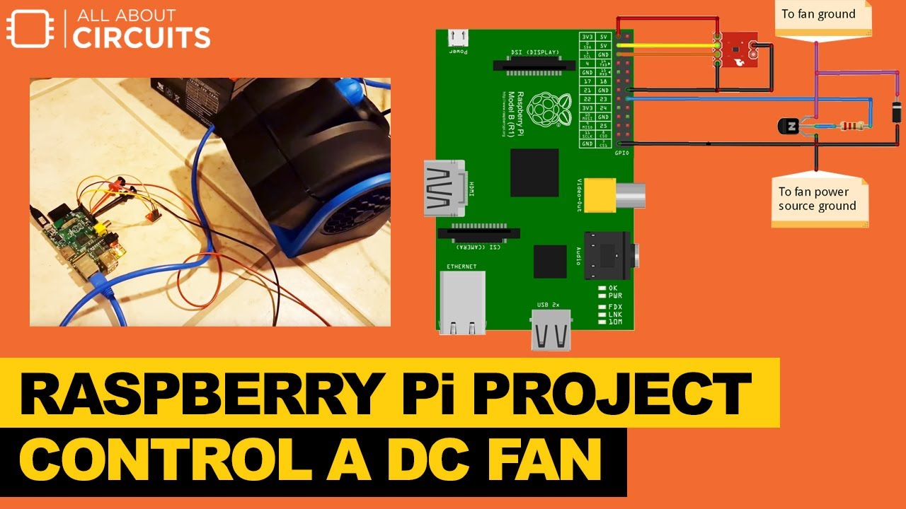 Control a DC Fan with a Raspberry Pi on