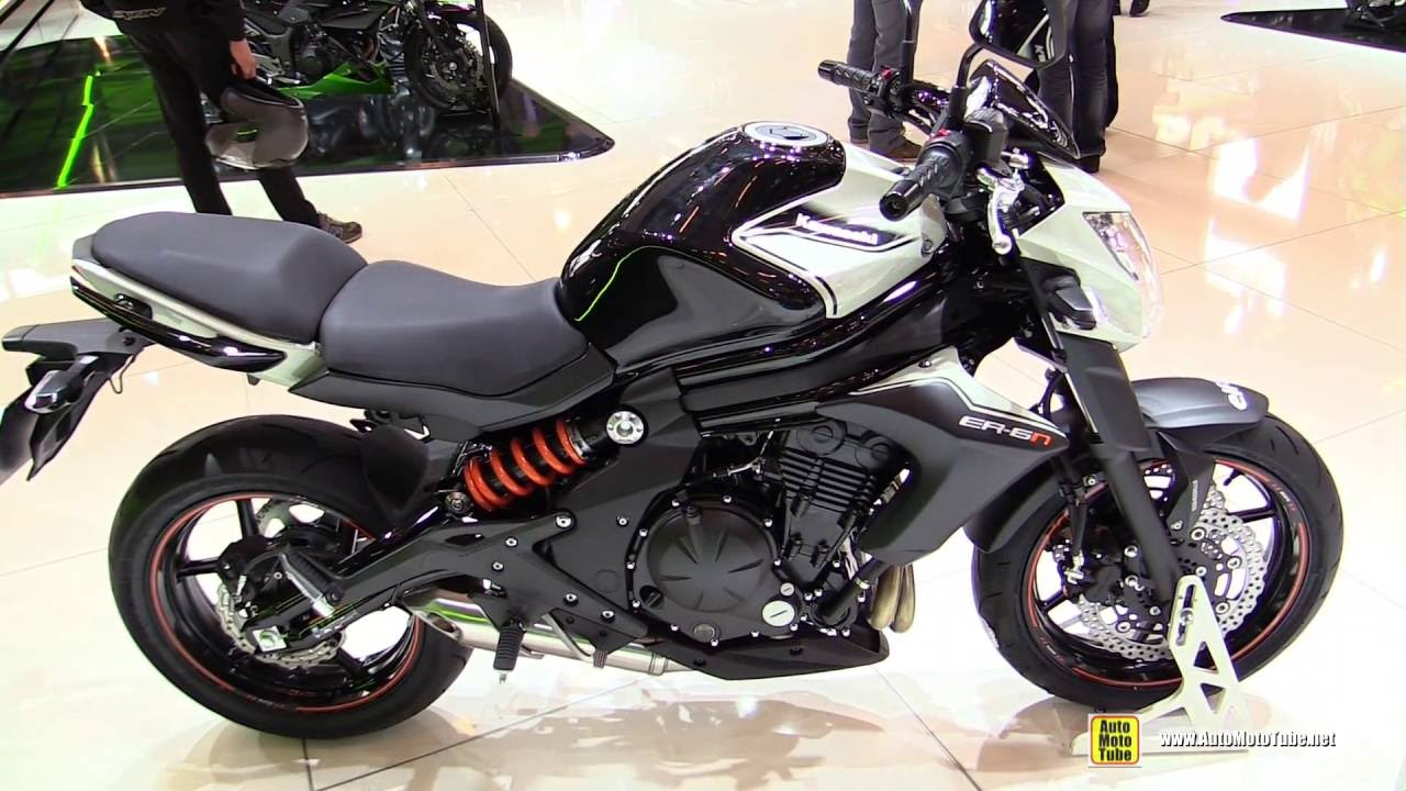 2016 kawasaki er6n walkaround 2015 salon de la moto paris youtube. Black Bedroom Furniture Sets. Home Design Ideas