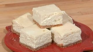 Cheesecake Bars With A Cookie Crumb Crust : Sweet Recipes