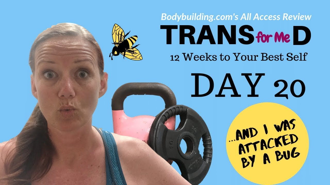 Workout Week 3, Day 20 | Using Bodybuilding  com's All Access App (PLUS A  BUG ATTACK AT 1:50)
