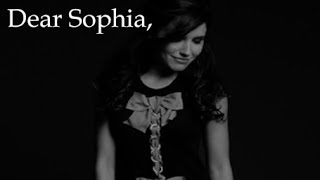 Dear Sophia, (A Message From Your Little Voices)