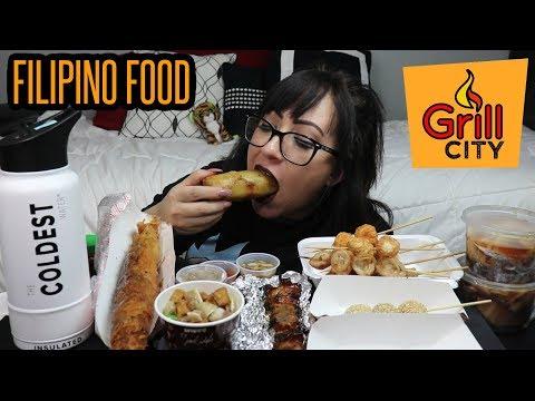 FILIPINO STREET FOOD MUKBANG | FIRST TIME TRYING | EATING SHOW