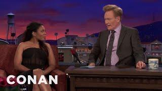 Regina Hall Offers To Give Conan A Wheatgrass Enema  - CONAN on TBS