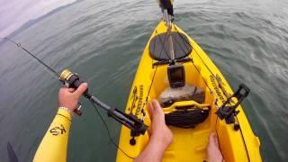 Utilizando sonar echo 100 na pescaria com caiaque barracuda