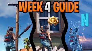 Fortnite Season 7 Week 4 Challenges Guide | Search For The Letter Locations | Destroy Utility Poles