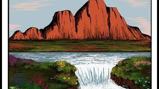 How to draw waterfall in MS Paint- Part 2