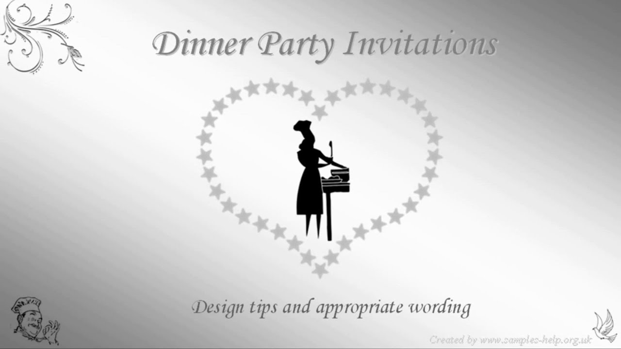 Dinner Party Invitation Wording YouTube