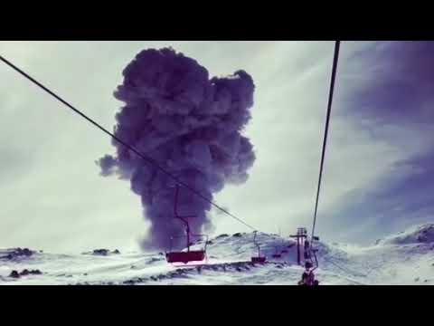 Volcano Erupts at Chilean Ski Resort
