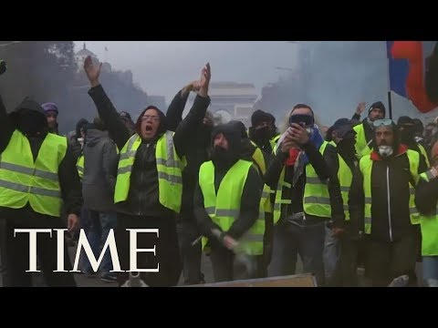 France's Yellow Jackets Are Driving Fury At Macron: 'There Is An Atmosphere Of Civil War' | TIME