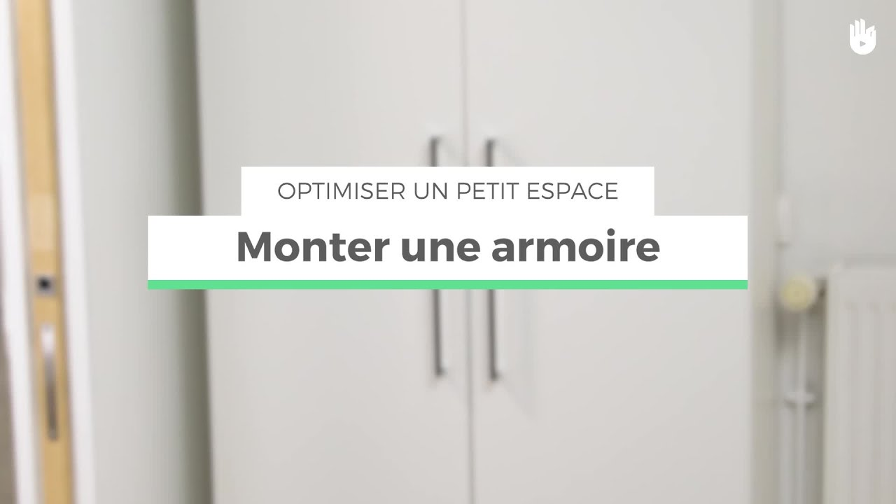 monter une armoire optimiser un petit espace youtube. Black Bedroom Furniture Sets. Home Design Ideas