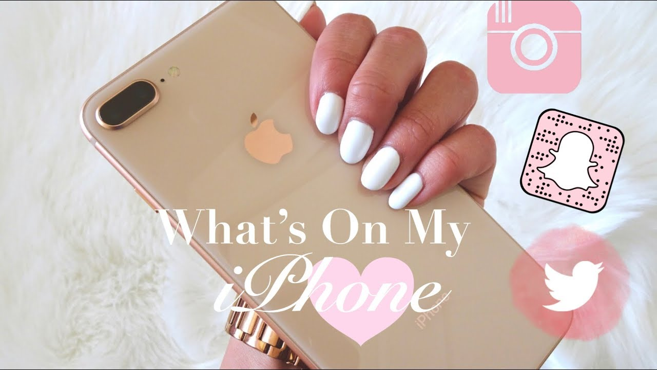 2018   What's On My iPhone 8 Plus! Apps I Can't Live Without♡   Angie  Crystal