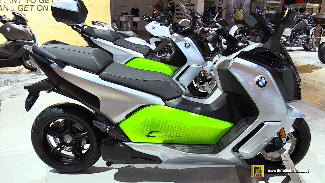 2017 bmw c-evolution electric scooter - walkaround - 2016 eicma