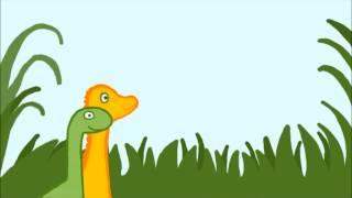 Tio glada dinosaurier - en räknesång