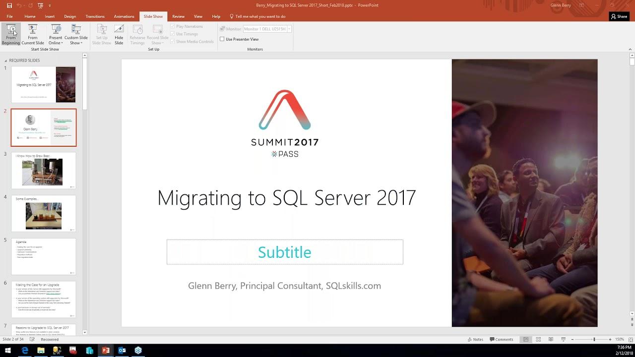 Migrating to SQL Server 2017