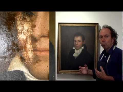 Restoring A 200 Year Old Oil Painting Portrait: Oil Painting Restoration Blog #4