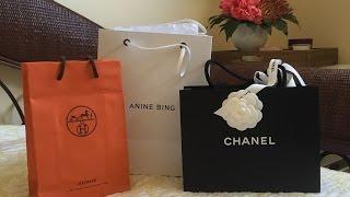 Mini NY Haul | Chanel, Hermes, Anine Bing - 2016