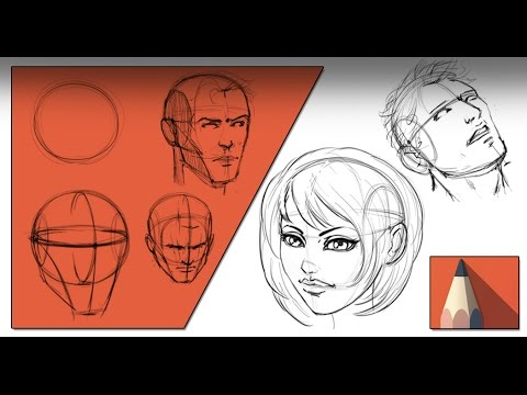 Drawing with the Andrew Loomis Method in Sketchbook Pro 8