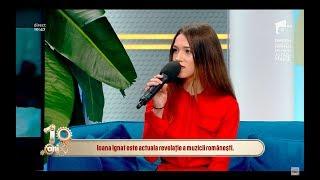 Ioana Ignat, aparitie spectaculoasa la Neatza ,,Dedic foarte mult timp muzicii