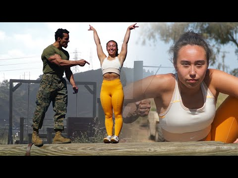 Gymnast Katelyn Ohashi Takes on the US Marine Obstacle Course