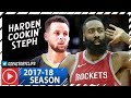 James Harden vs Stephen Curry SICK Duel Highlights (2018.01.20) Rockets vs Warriors - CLUTCH Harden!
